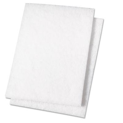 BOARDWALK PAPER Light Duty Scour Pad, White, 6 x 9