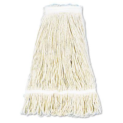 BOARDWALK FOODSERVICE Pro Loop Web/Tailband Wet Mop Head, Cotton, 24oz, White