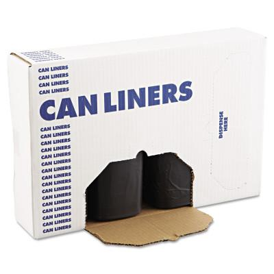 BOARDWALK LINERS SH-Grade Repro Can Liners, 38x58, 60gal, 1.2mil, Black, 10 Bags/Roll