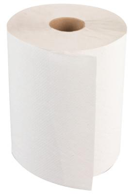 BOARDWALK PAPER Non-Perforated Hardwound Roll Towels, White