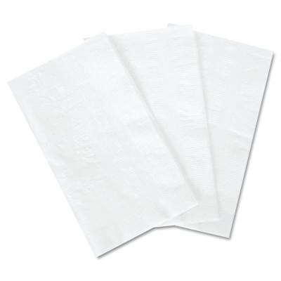 BOARDWALK PAPER Dinner Napkin, 15 in x 17 in, White, 100 Napkins/Pack