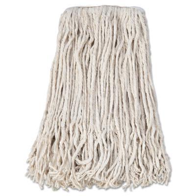 BOARDWALK Banded Cotton Mop Head, #24, White