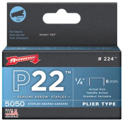 """ARROW FASTENER 02214 P22 STAPLES 1/4"""""""