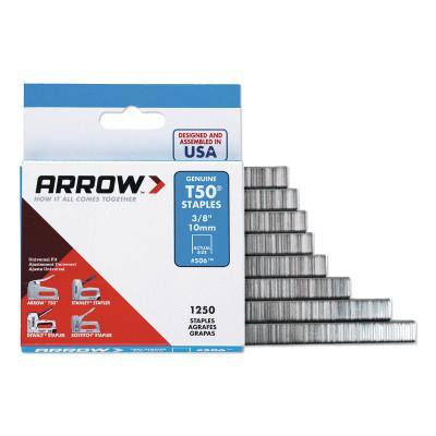 ARROW FASTENER T50 Type Staples, #508™, 1/2 in L x 3/8 in W, Steel