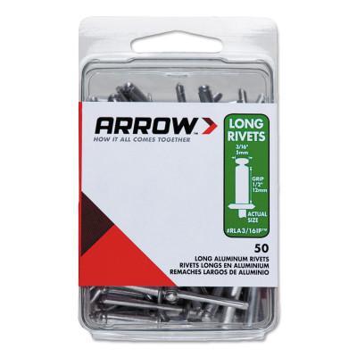 ARROW FASTENER Aluminum Rivets, 1/2 x 3/16, Long