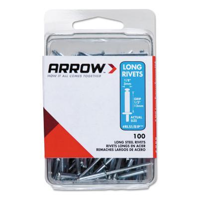 ARROW FASTENER Stainless Steel Rivets, 1/2 x 1/8, Long