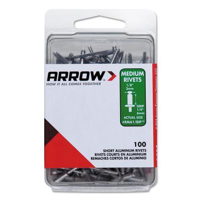 ARROW FASTENER Aluminum Rivets, 1/4 x 1/8, Medium
