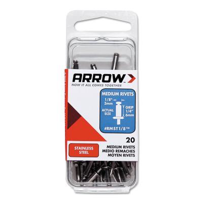 ARROW FASTENER Stainless Steel Rivets, 1/4 x 1/8, Medium