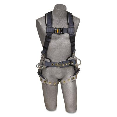 DBI/SALA ExoFit Iron Worker's Harnesses, Back/Side D-Rings, Small, Tongue Buckles
