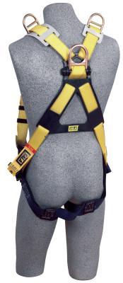 DBI/SALA Delta Vest Style Retrieval Harness, Back and Shoulder D-Rings, Universal