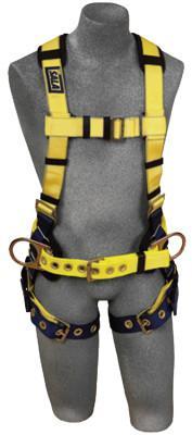 DBI/SALA Delta No-Tangle Harnesses, (2) Waist D-Rings; Back D-Ring, Medium