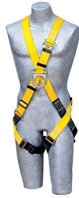 DBI/SALA Delta Cross Over Climbing Harness, Back & Front D-Rings, PassThru Buckle, Univsl