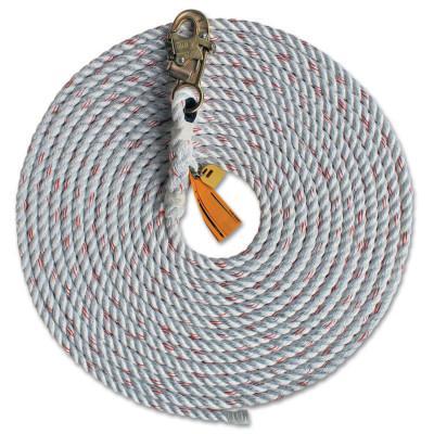 DBI/SALA Lifelines, 3/4 in, Steel Snap Hook, Dropline with Snaphook
