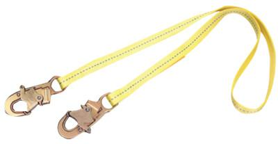 DBI/SALA Web Lanyard, 6 ft, Double Locking Snaps Connection, 1 Leg