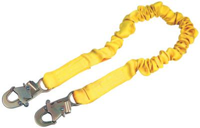 DBI/SALA ShockWave2 Shock Absorbing Lanyard, 6 1/4 in, Self-Locking Snap, 1 Leg