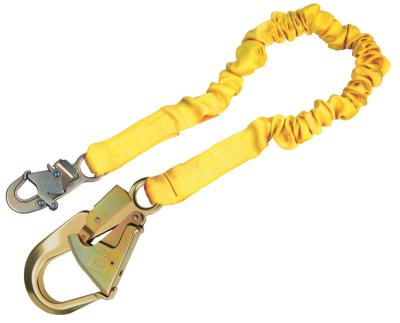 DBI/SALA ShockWave2 Shock Absorbing Lanyard, 6 ft, Aluminum Swivel Snap Connection, 1 Leg