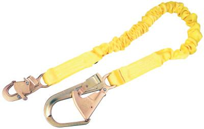 DBI/SALA ShockWave2 Shock Absorbing Lanyard, 6 1/4 in, Swivel Snap Connection, 1 Leg