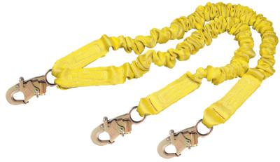 DBI/SALA ShockWave2 Shock Absorbing Lanyard, 6 ft, Double Locking Connection, 2 Legs