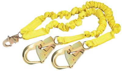 DBI/SALA ShockWave2 Shock Absorbing Lanyard, 6 1/4 in, Double Locking Snap, 2 Legs