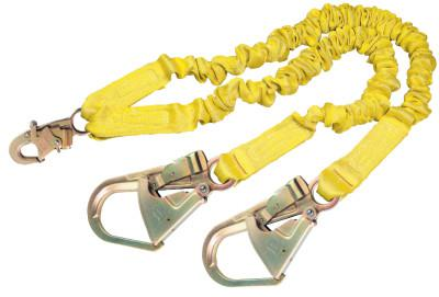 DBI/SALA ShockWave2 100% Shock Absorbing Lanyard, 6 ft, Self-Locking Snap, 310 lb Cap.