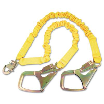 DBI/SALA ShockWave2 Shock Absorbing Lanyard, 6 ft, Steel Snap Hook Connection, 2 Legs