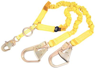 DBI/SALA ShockWave2 100% Shock Absorbing Lanyard, 6 ft, D-Ring, Self-Locking Snap, 2 Legs
