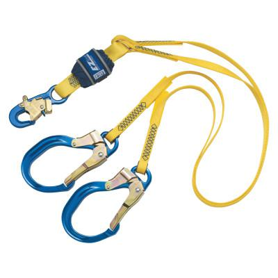 DBI/SALA EZ-Stop 100% Tie-Off Shock Absorb Lanyard, 6 ft, Self-Lock Snap Hook, 310lb Cap