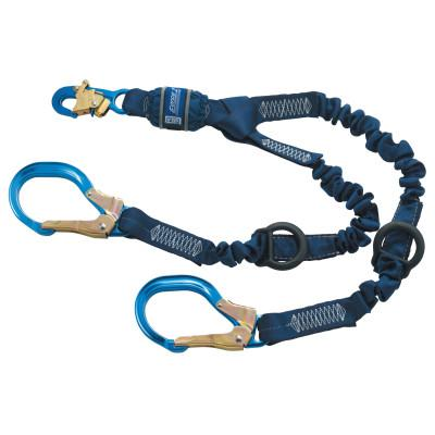 DBI/SALA Force2 Elastic Tie-Off Shock Absorbing Lanyard, 6 ft, Self-Locking Snap, 2 Legs