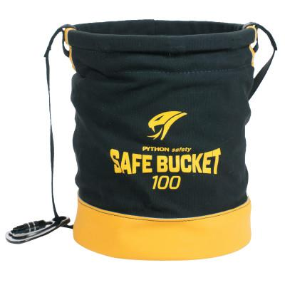 DBI/SALA Python Safety Spill Control Bucket, Carabiner Connection, 100lb Cap,Black/Yellow