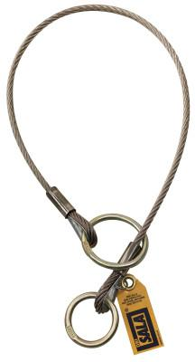 DBI/SALA Wire Rope Choker Slings, O-Ring/D-Ring, 4 ft Cable