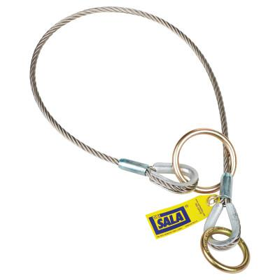 DBI/SALA Wire Rope Choker Slings, O-Ring/D-Ring, 6 ft Cable