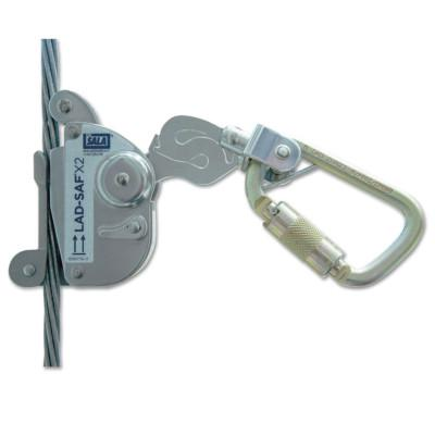 """DBI/SALA Lad-Saf X2 Detachable Cable Sleeves, 11/16"""", Self-locking/Closing-Gate Connector"""