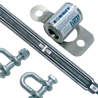 DBI/SALA Zorbit Energy Absorber Kits, Up to 60 ft Lifeline, Shackles/Fasteners/Turnbuckle