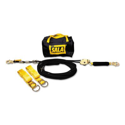 DBI/SALA Sayfline Synthetic Horizontal Lifeline Systems, 100ft, Tie-Off Adaptors/Bag
