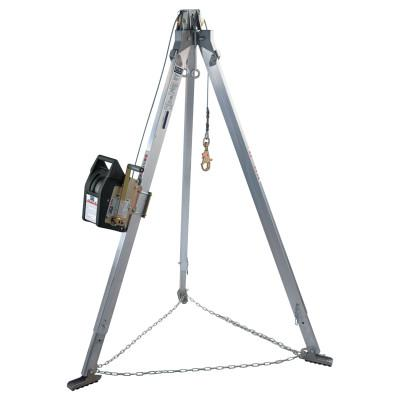 DBI/SALA Advanced Aluminum Tripods with Salalift II Winch, Rescue Harness Systems, 120 Ft