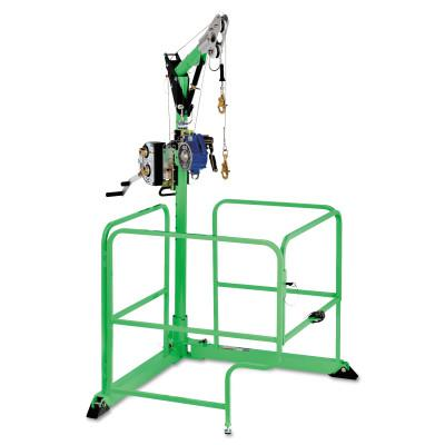 DBI/SALA 4-in-1 Davit Guard Portable Confined-Space Entry Systems, Winch; SRL Bracket