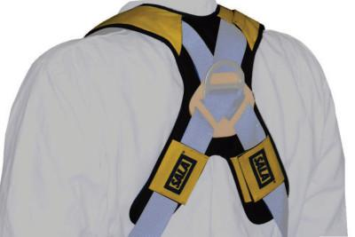 DBI/SALA Delta Comfort Pads for Harnesses, 22 in, Gray/Yellow