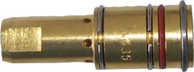 BEST WELDS Gas Diffusers, Brass, For Bernard MIG Guns & 7400 Series Contact Tips, 400-600A