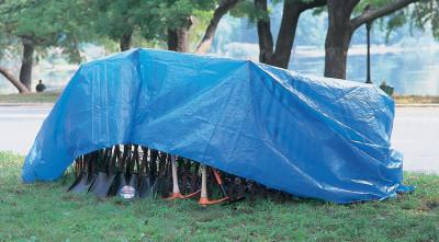 ANCHOR BRAND Multiple Use Tarps, 7 ft Long, 5 ft Wide, Polyethylene, Blue
