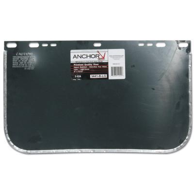 ANCHOR BRAND Visors, Light Green, Aluminum Bound, 15 1/2 x 9 in