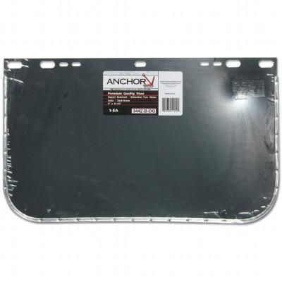 ANCHOR BRAND Visors, Dark Green, Aluminum Bound, 15 1/2 x 9 in