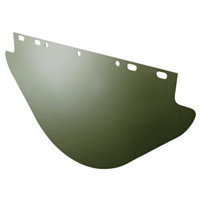 ANCHOR BRAND Unbound Visors For Fibre-Metal Frames, Dark Green, Visor, 19 x 9 3/4 in