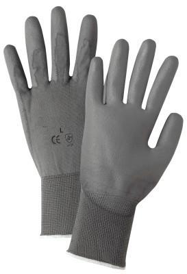 PIP Polyurethane Coated Gloves, Large, Gray