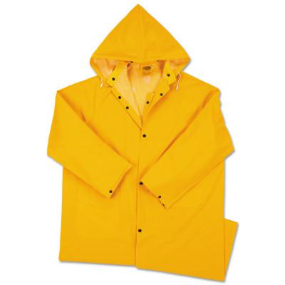 ANCHOR BRAND Polyester Raincoat, 0.35 mm PVC/Polyester, Yellow, 48 in, 3X-Large