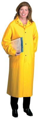 ANCHOR BRAND Polyester Raincoat, 0.35 mm PVC/Polyester, Yellow, 48 in, 2X-Large