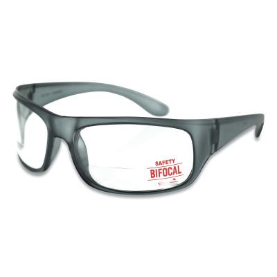 ANCHOR BRAND Bifocal Safety Glasses, 1.5 Diopter, Clear Polycarbonate Lens/Tint, Black Frame