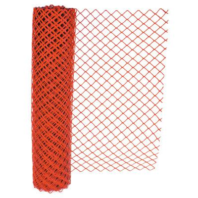 ANCHOR BRAND Chain Link Safety Fence, 4 ft x 100 ft, Polyethelene, Orange