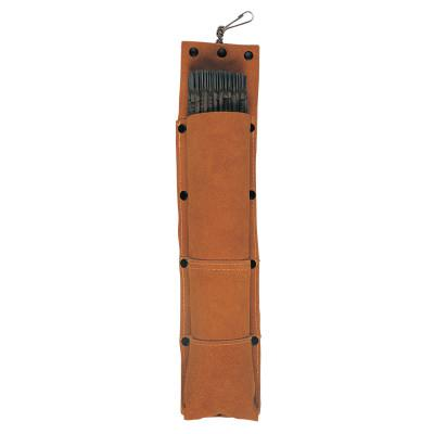 BEST WELDS Rod Bags, For 14 in Electrode, Leather, Brown