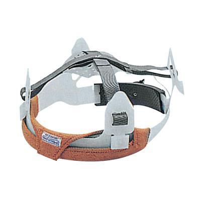 ANCHOR BRAND Headgear Sweatbands, FR Fleece Cotton, Brown; For Suspension Headgear