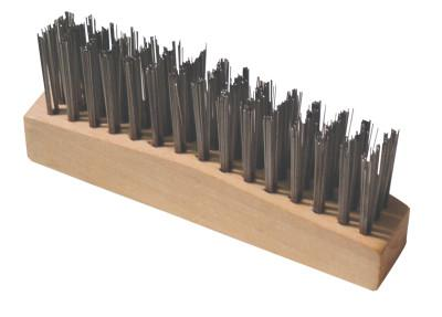 ANCHOR BRAND Chipping Hammer Brush, 3 X 15 Rows,Carbon Steel Wire, Straight Wood Handle